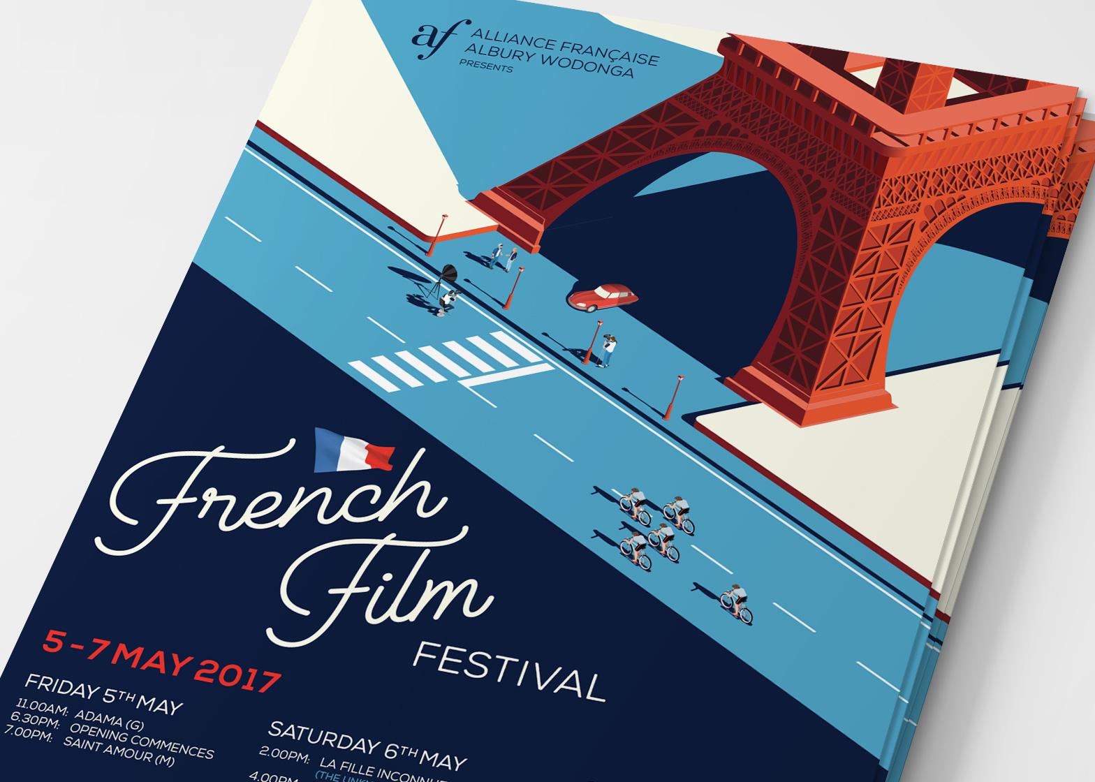 Poster design 2017 - Alliance Fran Aise French Film Festival 2017 Poster Design