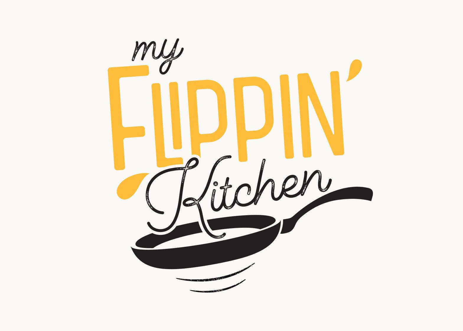 my flippin kitchen kyneton victoria logo design - Kitchen Logo